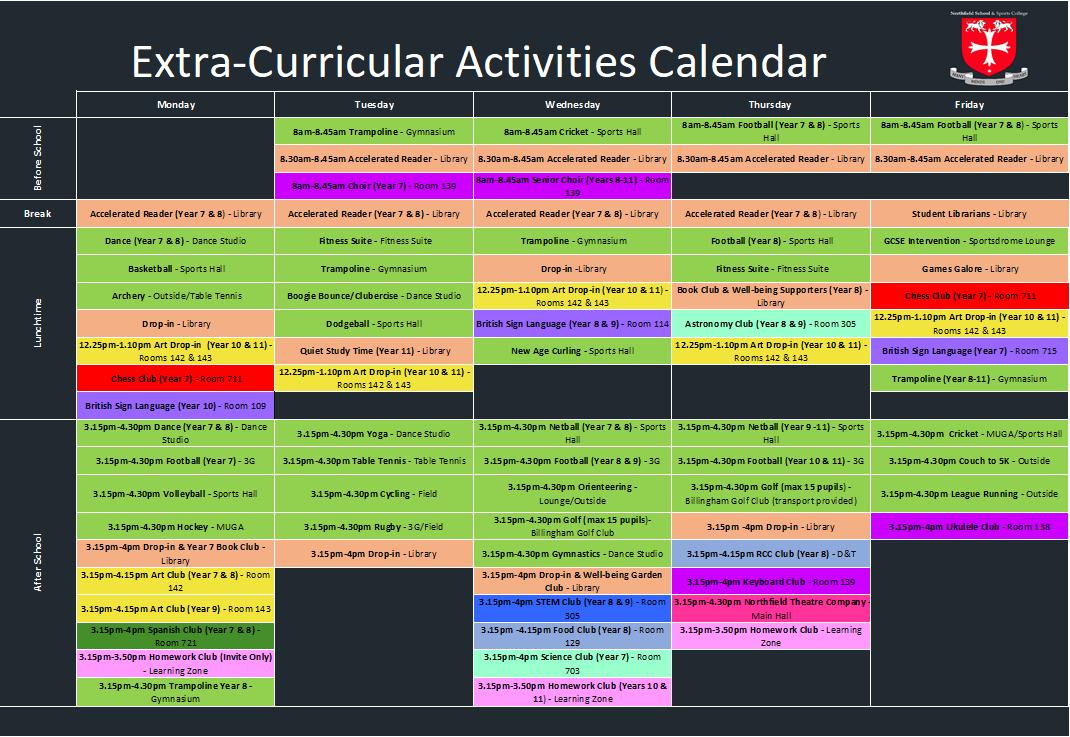 ECA Calendar 27th September